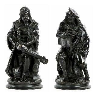 Albert Carrier-Belleuse Sculptures of Rembrandt and Albrecht Dürer, 19th Century - A Pair