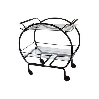 Black Metal Bar Cart