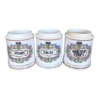 Antique Porcelain Apothecary Jars - Set of 3