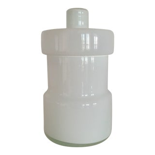 Scandinavian Art Glass Canister