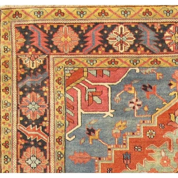 "Image of Heriz Lamb's Wool Area Rug - 6' X 8'10"""