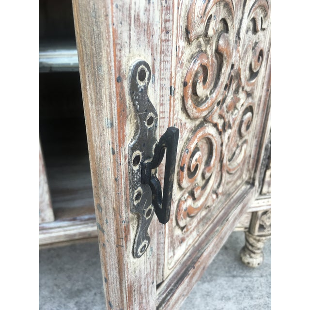 French Style Distressed Cabinet - Image 7 of 11