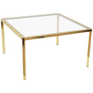 Italian Square Brass Coffee Table