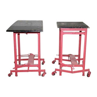 Vintage Pink Typewriter Table - a Pair