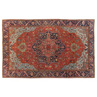 Hand-Knotted Heriz Rug - 10' x 15'4""