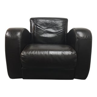 "Due Linee ""Salotti"" Espresso Leather Arm Chair"