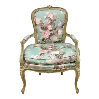 Hickory French Provencial Chair in Chintz