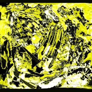Suga Lane - Yellow & Black Arctic Glacier Contemporary Print