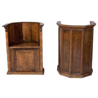 Late 16th to Early 17th Century Italian Renaissance Walnut Chairs - A Pair