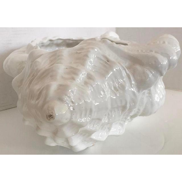 White Porcelain Italian Shell Planter - Image 6 of 8