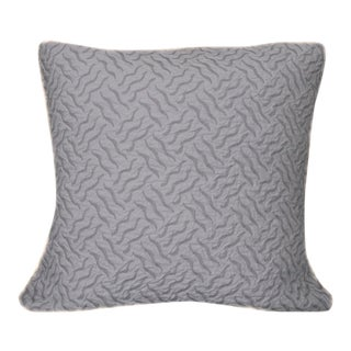Vintage Lavender Matelasse Fabric Euro Shams - A Pair