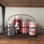 Image of Vintage Drinking Glass Set With Carrier