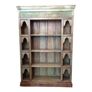 Carved Wood Shelf, Indian Handcraft