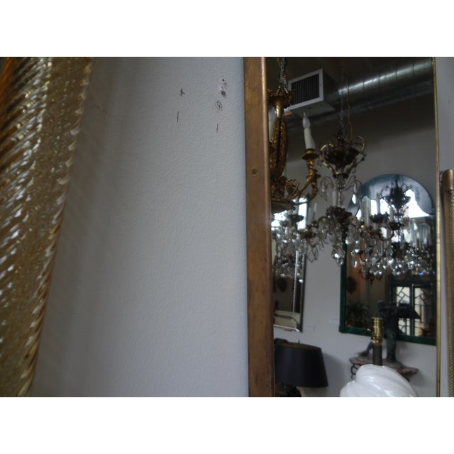 Italian Gio Ponti Inspired Brass Mirror - Image 5 of 7