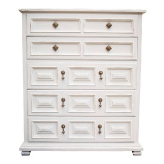 Drexel Esperanto Antique White Chest of Drawers
