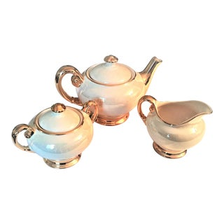 ACME Craftware 22k Gold Edged Cream Tea Set - Set of 3