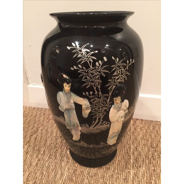 Chinoiserie Mid Century Mod Asian Vase - Image 2 of 8