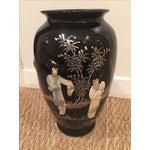 Image of Chinoiserie Mid Century Mod Asian Vase