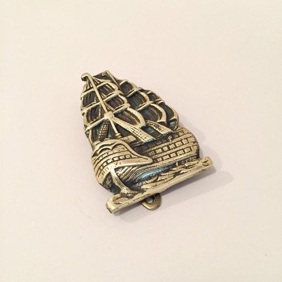 Brass nautical ship door knocker chairish - Nautical door knockers ...