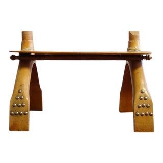 Camel Saddle Wooden Footstool
