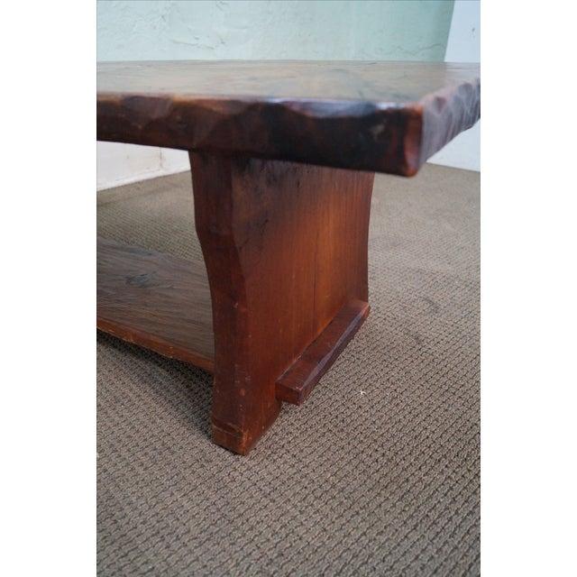 Rustic Slab Wood Coffee Table - Image 10 of 10
