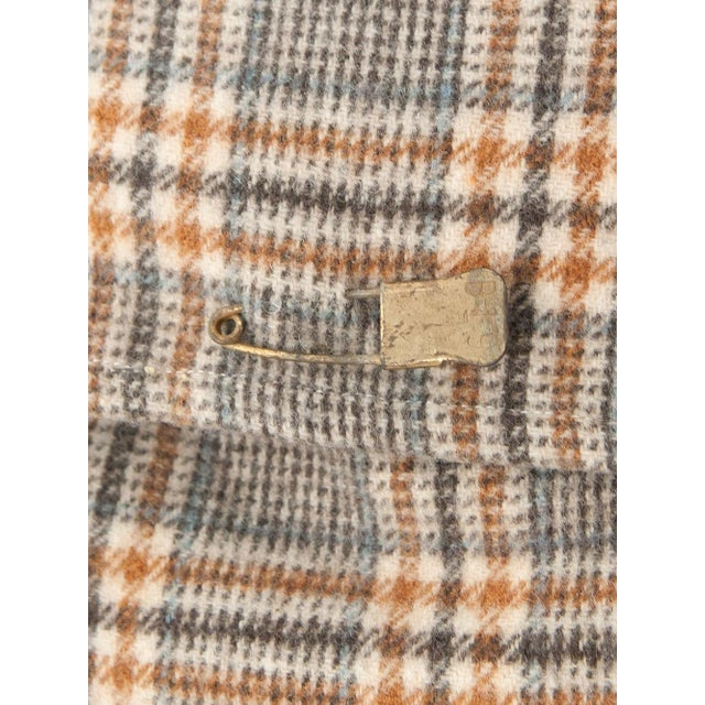 Neutral Tartan Harris Tweed Down Pillows - A Pair - Image 4 of 4