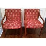 Image of Stow Davis Velvet Geometric Chairs - A Pair
