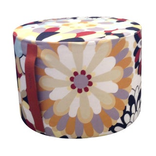 MissoniHome Vevey Cylindrical Pouf