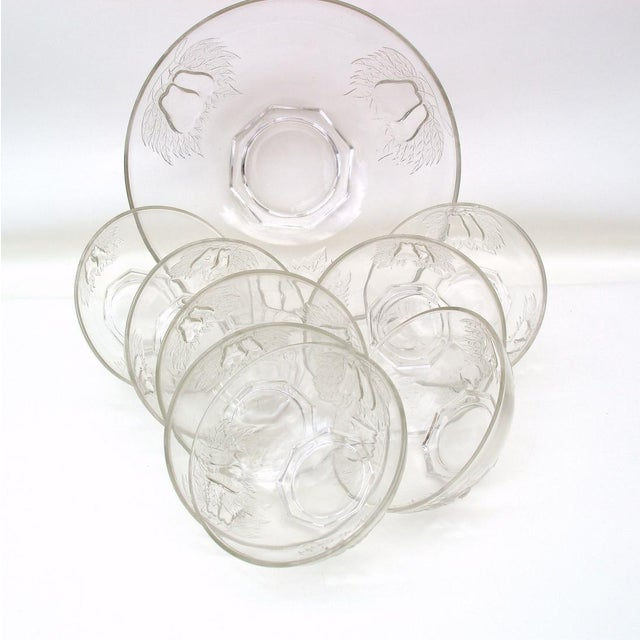 Image of 1930's Indiana Glass Pear Dessert Berry Bowls Set