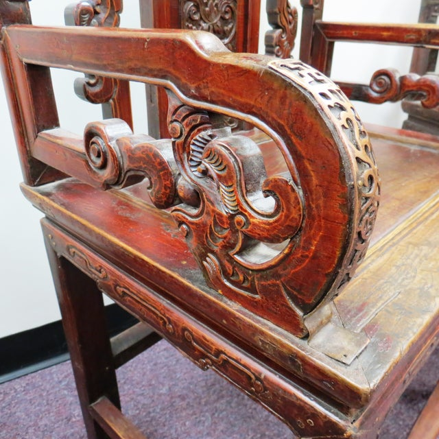 Pair of Chinese Hardwood Armchairs - Image 5 of 9