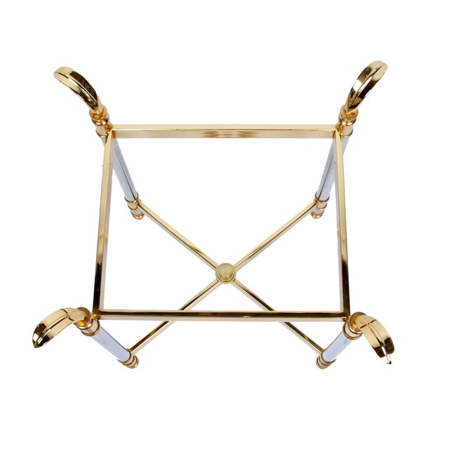 Image of Small Brass Chrome Decorative Table