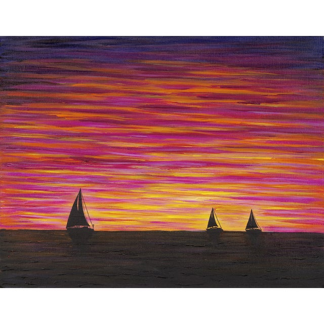 """Image of """"Day's End"""" Nautical Painting"""