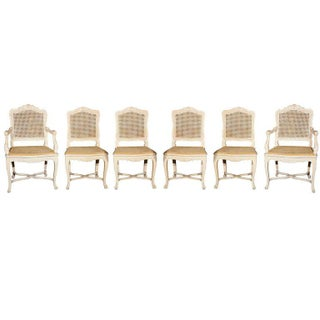 Louis XV Jansen Dining Chairs - Set of 6