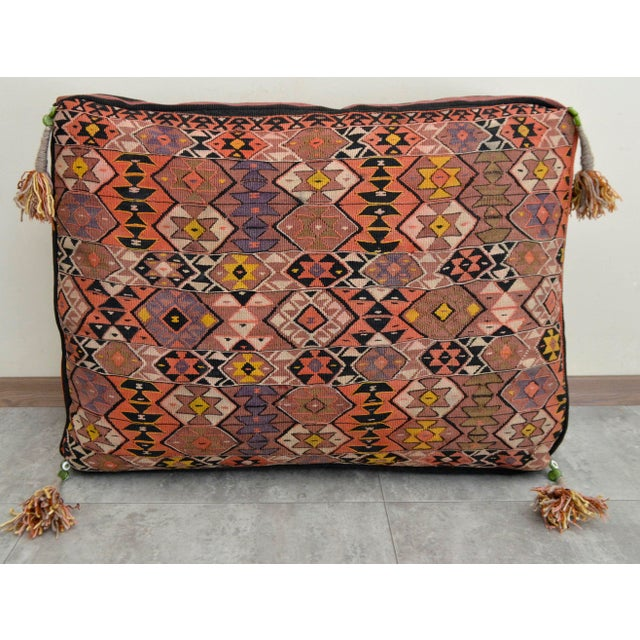 Turkish Hand Woven Floor Cushion Cover - Image 3 of 8