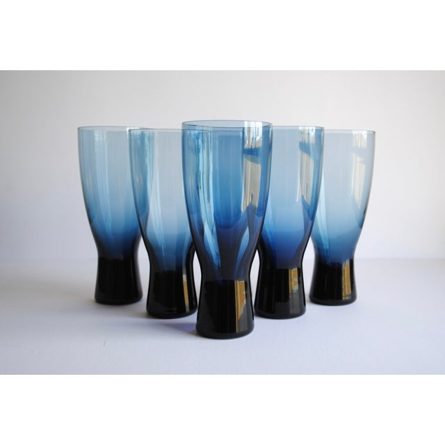 "Image of Mid-Century 7"" Highball Glasses - Set of 6"