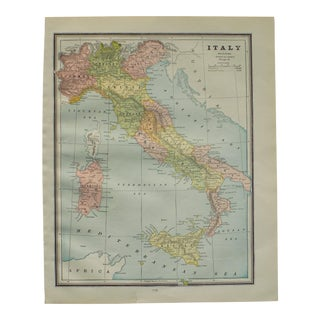 Map of Italy by George Cram, 1895