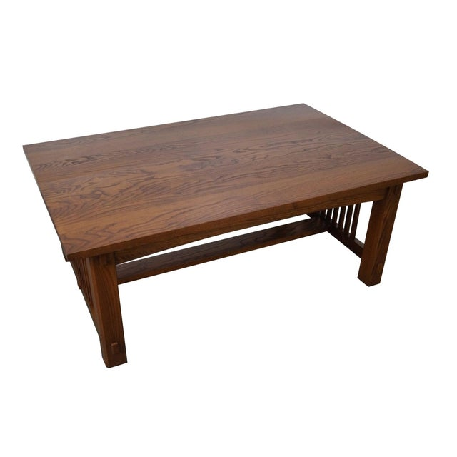 Mission Oak Style Solid Oak Coffee Table Chairish