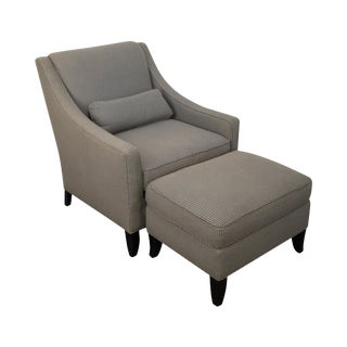 Kravet Classic Modern Lounge Chair & Ottoman