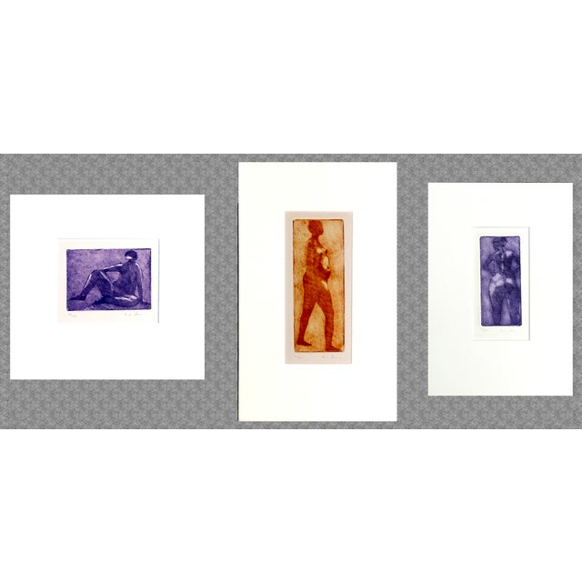 Rachel Foreman Monochrome Nude Etchings - Set of 3 - Image 2 of 11