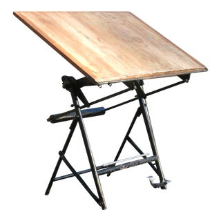 Vintage French Drafting Table