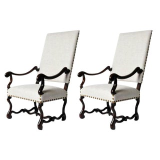 Pair of Louis XIII Style Fauteuils