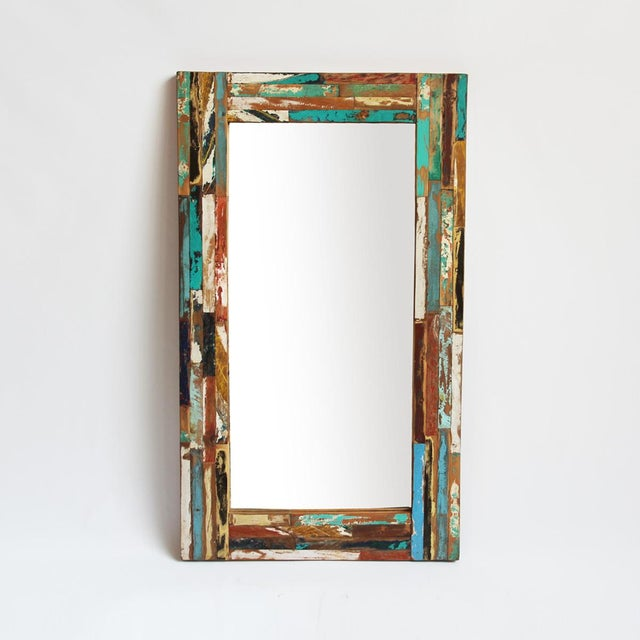 Reclaimed boat wood mirror chairish for Mirror yacht