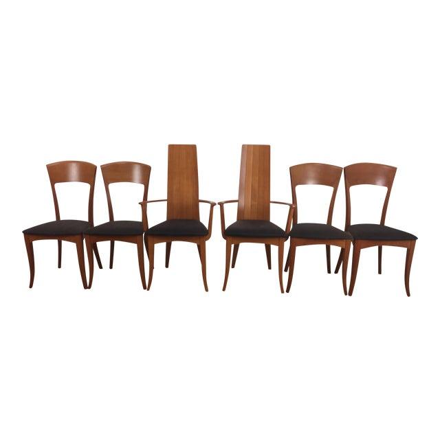 A. Sibau Italian Mid-Century Modern Dining Chairs- Set of 6 - Image 1 of 11
