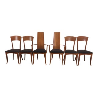 A. Sibau Italian Mid-Century Modern Dining Chairs- Set of 6