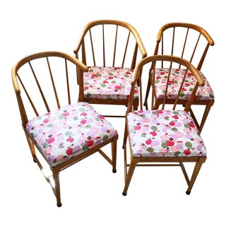 Vintage Asian Arched Chairs - Set of 4