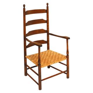 18th Century American Ladder-Back Armchair