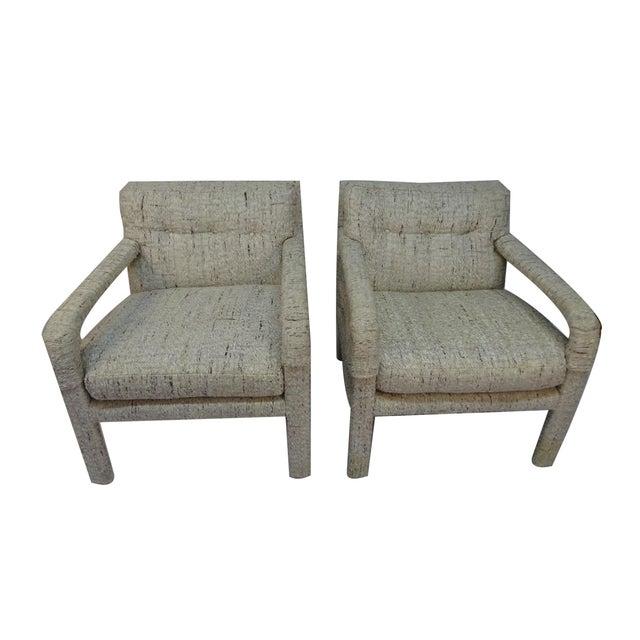 Image of 1970s Milo Baughman Parsons Chair - Pair