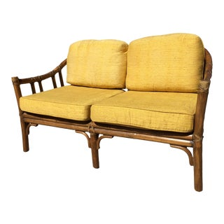 McGuire Classic Organic Modern Rattan Sofa