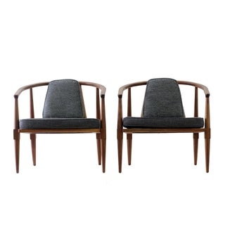 Mid-Century Round Chairs - Pair