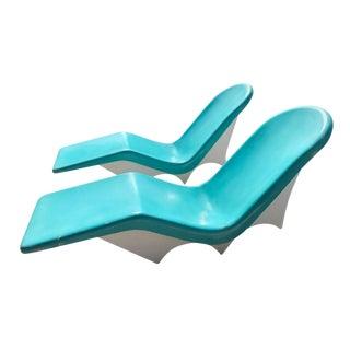 Le Barron of California Mid-Century Fiberglass Lounge Chairs
